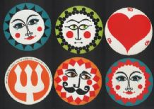 Round advertising playing cards ,'Scaldia Paper' by Gerald Wilbin